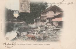 ARCIS SUR AUBE - LA SCIERIE - USINE DE CHERLIEU - LE CHATEAU - TRES BELLE CARTE PRECURSEUR COLORISEE , TRES ANIMEE - 2 - Arcis Sur Aube