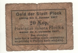 POLAND   Emergency Money  20 KOP    PNL   Dated 1.1. 1917 - Polonia