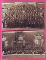 MILITARIA 2 CARTES PHOTO 1° COMPAGNIE INSIGNE DE COL COR - Regimente