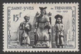 France  Neuf  Sans Charnière 1956 Célébrité Saint-Yves De Tréguier Patron Hommes De Loi YT 1063 - Frankreich