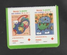 """FRANCE / 2008 / Y&T N° 4306/4307 **,  P4306 ** Ou AA 237/238 ** : Croix-rouge """"Dessine La Planète"""" (2 TVP LP) X 1 Paire - Adhésifs (autocollants)"""