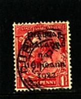 IRELAND/EIRE - 1922  1d OVERPRINTED DOLLARD  SG 2 FINE USED - 1922 Governo Provvisorio