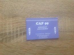 Carte De Visite De Restaurant   CAP 99   Paris 5eme - Cartes De Visite