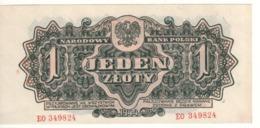 POLAND   1 Zloty   P105a     1944 - Polonia