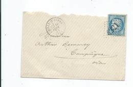 60A Sur Lettre De Ville D'Avray Pour Compiegne 1871 - 1849-1876: Periodo Clásico