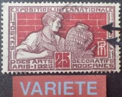 R1752/699 - 1924 - EXPOSITION INTERNATIONALE DES ARTS DECO De PARIS - N°212 ☉ - VARIETE ➤➤➤ 2 Points (variété Constante) - Variedades Y Curiosidades