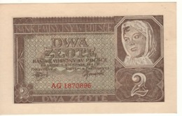 POLAND   2 Zloty   P100   (   Peasant Woman  )  1941 - Polonia