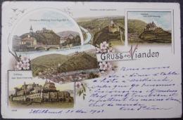 Luxembourg Luxemburg - VIANDEN LITHO 1903 - Vianden