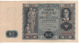 POLAND   20 Zloty   P77   ( Woman With Children,  Emilie Plater    )    Dated 11.11.1936 - Poland