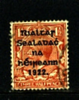 IRELAND/EIRE - 1922 1 1/2d OVERPRINTED THOM  SG 10 FINE USED - 1922 Governo Provvisorio