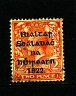 IRELAND/EIRE - 1922  2d (Die I) OVERPRINTED THOM  SG 12 FINE USED - 1922 Governo Provvisorio