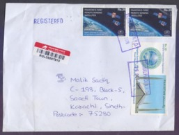 SPACE First Remote Satellites, Qingdao Summit At Shanghai China, Faisal Mosque, Postal History Cover From PAKISTAN, 2019 - Pakistan