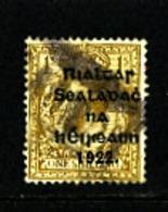 IRELAND/EIRE - 1922  1s  OVERPRINTED THOM  SG 15 USED - 1922 Governo Provvisorio
