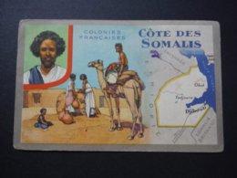 Carte Colonies Françaises - Côte Des Somalis - Produits Du Lion Noir - Historia