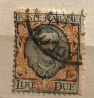 ITALIA REGNO 1923 FLOREALE 2 LIRE    USATO - 1900-44 Victor Emmanuel III