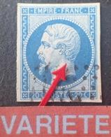 R1752/706 - NAPOLEON III N°14B - LPC - VARIETE ➤➤➤ Petite Griffe Sur Le Cou - 1853-1860 Napoléon III