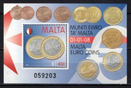 MALTA - 2008 - MONETE EURO DI MALTA - SOUVENIR SHEET - MNH - Malta