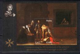 MALTA - 2007 - CARAVAGGIO A MALTA 1607-2007 - MINIATURE SHEET - MNH - Malte
