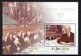 MALTA - 2007 - TRATTATI DI ROMA - TREATIES OF ROME 1957-2007 - MNH - Malta