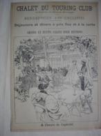 CYCLISME PUBLICITE CHALET DU TOURING CLUB Paris Bois De Boulogne Extrait Document De 1896 Vélo Cycle Bicyclette - Cycling