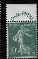 TP N° 188, Timbre Neuf Sans Charnière - France