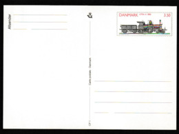 E 85) Dänemark 1991 Ganzsache Mi# P 282 *: Dampflokomotive Baureihe A 1882 (Lokomotive) - Trains