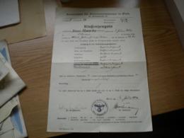 Nazy Swastika Wien Berufschule Fur Elektroinstallateure In Wien 1940 Klassenzeugnis - Diplomas Y Calificaciones Escolares