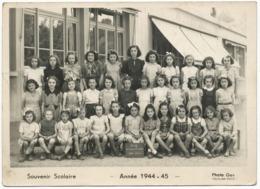 RHONE PHOTO GAY A VAULX EN VELIN CLASSE SCOLAIRE 1944 - 1945 ECOLE LOUIS LOUCHEUR 3EME CLASSE - Documents Historiques