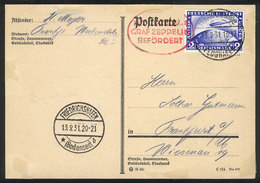 GERMANY: 13/SE/1931 Frankfurt - Friedrichshafen - Frankfurt: Card Flown By Zeppelin, Very Nice! - Germany