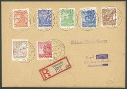 EAST GERMANY: Registered Cover Franked With 7 Stamps Of Mecklenburg-Vorpommern Used In Schwerin On 27/DE/1946, VF Qualit - [6] Democratic Republic
