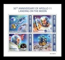 Sierra Leone 2019 Mih. 11178/81 Space. Apollo 11. Moon Landing MNH ** - Sierra Leone (1961-...)
