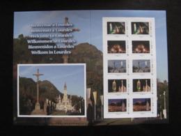 TB Feuille Collector De La Poste. Lourdes 2008. MONDE. 20g. - Collectors