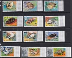 Aitutaki 1978 Shells Set OHMS O/print - Fine Used - Aitutaki