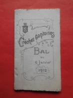 Carnet De Bal 6 Janvier 1912 Crêches Gantoises - Vieux Papiers