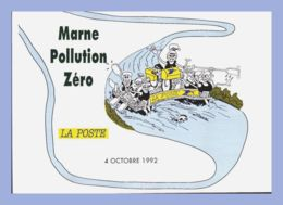 Carte Moderne - La Poste (UPPTT) - 1992. Marne  Pollution Zéro - 4 Octobre 1992 - Correos & Carteros