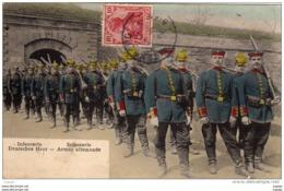 MILITARIA   Infanterie Armée Allemande  Deutsche Heer   Carte écrite En 1907 - Uniformi