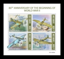 Sierra Leone 2019 Mih. 11213/16 Beginning Of World War II. Aviation. Aircrafts MNH ** - Sierra Leone (1961-...)