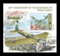 Sierra Leone 2019 Mih. 11217 (Bl.1745) Beginning Of World War II. Aviation. Aircrafts MNH ** - Sierra Leone (1961-...)
