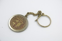 Vintage KEYCHAIN :  NORDWEST LOTTO KIEL COIN LUCKY -  RaRe - 1980's - Porte-cles - Porte-clefs