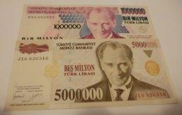 TURKEY 5000000 5,000,000 LIRA 1997 5 MILLION ATATURK   BANKNOTE - Turkije