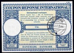 DANEMARK / DENMARKLo17A 1 Kr.International Reply Coupon Reponse Antwortschein IRC IAS O FREDERICIA 8.6.67 - Enteros Postales