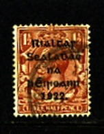IRELAND/EIRE - 1922  1 1/2d  OVERPRINTED  THOM  SG 32  FINE USED - 1922 Governo Provvisorio