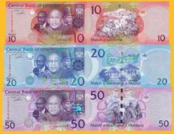 Lesotho Set 10, 20, 50 Maloti 2013 UNC Banknotes - Lesoto