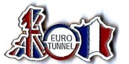 EUROTUNNEL - E385 - CARTES GB-FRANCE + SIGLE- Verso : SM - TGV