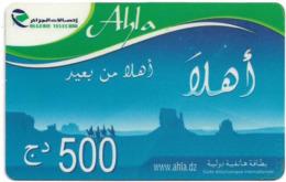 Algeria - Algerie Telecom - Ahla, GSM Refill 500DA, Used - Algérie