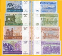 Madagascar Set 100, 200, 500, 1000 Ariary 2004 UNC Banknotes - Madagascar