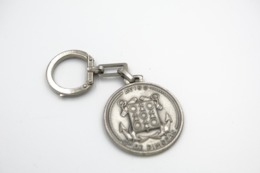 Vintage KEYCHAIN :Old French Africa Colony Navy Metal Plaque Tampion Crest Aviso Cdt Pimodan- RaRe - 19**'s - Porte-cles - Porte-clefs