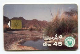 Telecarte °_ Emirats.UAE-86-Dhs45-Point D'eau- R/V S.n - Emirati Arabi Uniti