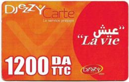 Algeria - Djezzy - La Vie, GSM Refill 1.200DA, Used - Algeria