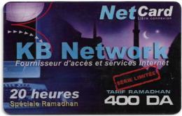 Algeria - KB Network - Fournisseur D' Acces, Exp.21.12.2002, Prepaid 400DA, Used - Algérie